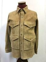BEAMS PLUS Suede Leather Hunting Utilities Jacket Brown from Japan Size M