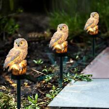 Solar Powered LED Owl Lawn Light Waterproof Garden Landscape Walkway Yard Lamp