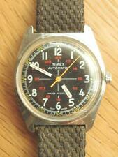 Vintage TIMEX Automatic Military Marlin Mens Dive Watch Black Dial 1950s