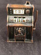 Vintage Golden Eagle Mini Slot Machine Die Cast Metal Pencil Sharpener