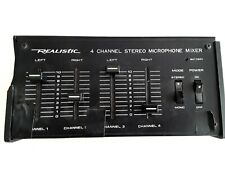 Radio Shack Realistic 32-1105 4-Channel Stereo Microphone Mixer Used