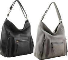 Faux Leather Grey Large Bags & Handbags for Women
