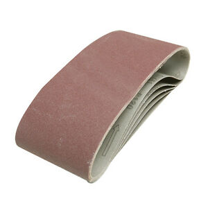 5 x Medium 80 Grit Sanding Sandpaper Belts Fits All 100 x 610mm Sanders