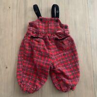 OshKosh B'gosh Vintage Plaid Jumpsuit Overalls Baby Infant Size 12 Months