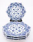 4 Plates #1094 - Blue Fluted - Royal Copenhagen Double Lace - 1st Quality