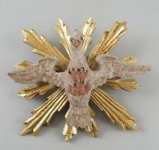 Schöner heiliger Geist mit Strahlenkranz Holz geschnitzt und gefasst