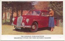 Wolseley 4/44 Four-FortyFour original Factory issued colour postcard