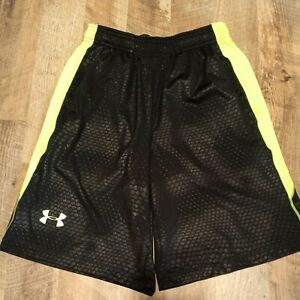 Under Armour Men's Black And Neon Green Size S Small Shorts