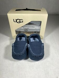Ugg Infant Navy Slip Ons Shoes Size 2/3 (gr201)