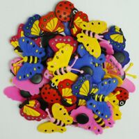 50pcs Cute Butterfly Cartoon Shoe Charms For Girls Sandle Shoes Wristbands Gifts