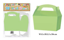 10 Neon Green Treat Boxes - Small Cupcake Food Loot Cardboard Gift