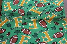 "New ""Football"" 124"" L x 43"" W 100% Cotton Fabric by MBT"