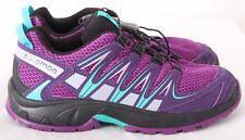 Salomon XA Pro 3D Purple Athletic Training hiking Sneakers Youth 4 (Women's 5.5)