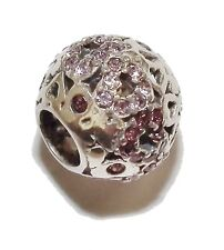 "Pre-Owned Genuine CHAMILIA Silver & Purple Gem Set ""Captured Hearts"" Bead - #4"