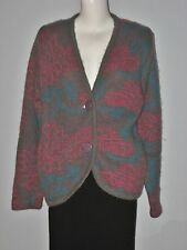 SPANNER Size Gray Pink 2-Button Long Sleeve Cardigan