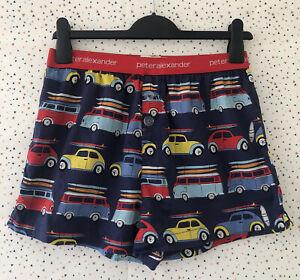Peter Alexander Car Van Comi Blue Red Boxer Shorts Size S