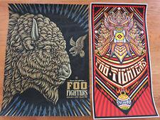 Foo Fighters poster set Seattle Sept 1 Nirvana Reunion Brad Klausen Todd Slater