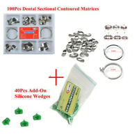 Dental Sectional Contoured Matrices Matrix Delta Ring+40Pcs Add-On Wedges