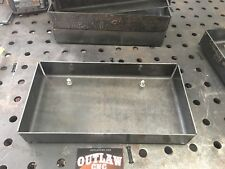 """FRENCHED  16GA STEEL LICENSE PLATE BOX. 2"""" Recessed  Tailgate Rollpan"""