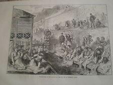 RONDELLA delle donne delle BANLIEUE a Quai de la Conferenza di Parigi 1871 Print ref Z3