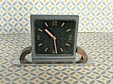 RÉVEIL SWISS 8 DAYS ART DÉCO/ 1930 SWISS 8 DAYS ALARM CLOCK