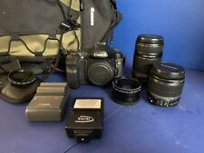 Canon Eos 40D Digital Slr Camera Kit w/ (3) Lenses/Flash/Filters/Back pack, Used