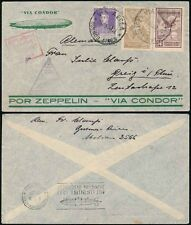 ZEPPELIN 1934 ARGENTINA CONDOR FLIGHT...BOXED + TRIANGULAR + DUPLEX HANDSTAMPS