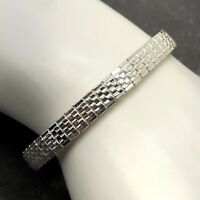 NWT Napier Vintage Woven Textured Silver Colored Elastic Stretch Bracelet