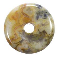 Crazy Lace Agate Donut Pendant GEMSTONE 30 Mm Slice Stone Pi Stone Healing Stone