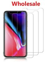 100x Wholesale Lot Tempered Glass Screen Protector for iPhone X XR XS 11 MAX