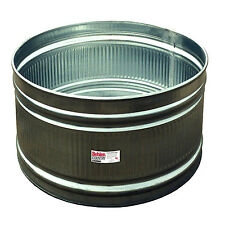 Galvanized Steel Round Stock Tank Water-tight Tub Patio Pond Raised Garden Yard