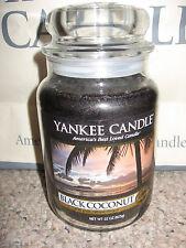 Yankee Candle BLACK COCONUT Large Jar 22 oz Candle RARE HTF