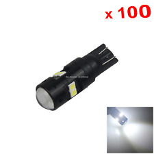 100x White RV T10 W5W Reverse Light Backup Bulb 12V-24V 8 3030 SMD LED Z2666