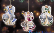 Thomas Kinkade Winter Angels of Light Ornament Set #1