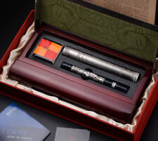 Picasso 14k Dream Collection Fountain Pen Medium with Gift Box, Gray Metal