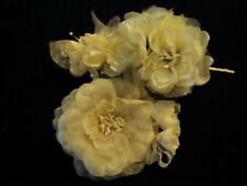 """Retro Millinery Flower Collection All Roses 1-4"""" Ivory Beige for Hat Hair H2190"""