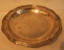 Plat creux en métal argenté monogrammé DN, Christofle, diamètre 27cm