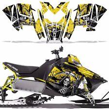 RUSH RMK Decal Wrap Graphic Kit Sled Snowmobile Polaris 600/800 2011+ REAP YLLW