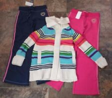 NWT Sz M 8 Gap Kids Holiday Brights Sweater Coat Pants Pink Blue White Green