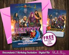 Descendants 2 birthday party invitation personalized U PRINT printable #003