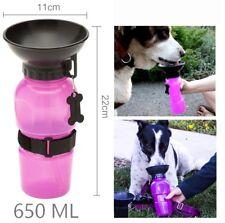 Beverino Borraccia portatile per cani gatti animali acqua 650 ML ciotola viaggio