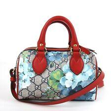 Gucci Blue Bloom GG Supreme Canvas Mini Boston Croddbody Bag 546312