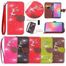 For Huawei Diamond Strap PU Leather Wallet phone case Diamond Angel pattern