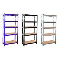 More details for heavy duty 5 tier galvanised steel garage shelving racking unit storage racks