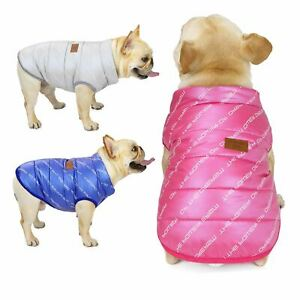 Small Pet Dog Jacket Vest Warm Letter Printed Puppy Cat Coat French Bulldog New