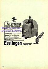 Maschinenfabrik Esslingen XL Reklame 1952 Elektro Fahrzeug Schlepper Werbung