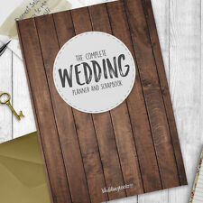 Wedding Planning Organizer- Wedding planner book / organiser  Wood Grain Style