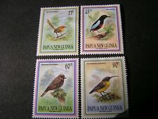 PAPUA NEW GUINEA, SCOTT # 802-805(4),1993 COMPLETE SET SMALL BIRDS ISSUE MH