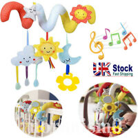 Baby Spiral Activity Hanging Toys Rattle Bell Plush Toy for Infant Stroller Crib