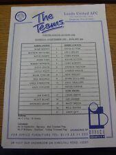 14/09/1995 Leeds United Reserves v Derby County Reserves  (Creased, Marks, Colou